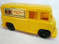 Vintage 1960's Ewald Bro's Dairy yellow plastic milk delivery truck coin bank