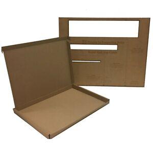 25x C4/A4 Large Letter Cardboard Postal Boxes Maximum Size PIP - 345x240x22mm