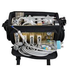 portable 410W Dental Unit Messenger backpack Bag air Compressor Suction system