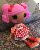 """Lalaloopsy Pepper Pots and Pans Full Size 12"""" Retired Doll Red Gingham Plaid #N9"""