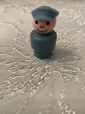 Fisher Price Little People Vintage Gray Pilot with Gray Cap