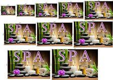 Spa X Line Pattern WGLV See-Through Window Vinyl Poster Salon Sign ad Horizontal