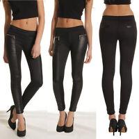 Sexy Women Biker Skinny Faux Leather Pants Trousers Leggings Punk Rock Black