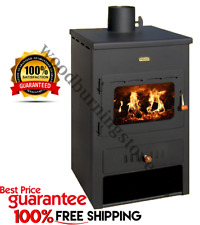 Wood Burning Stove With Back Boiler Fireplace Multi Fuel Prity K1W8 8+4kw.