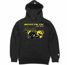 Scat Pack 1320 Drag Race Bee R/T SRT Challenger Hoodie Pullover Black Sweater