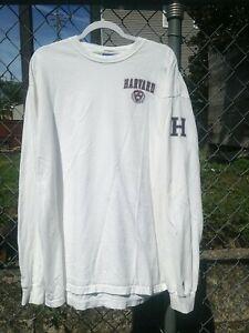 Harvard University Champion Longsleeve White T-shirt Honduras Sz 2XL