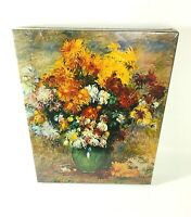 Springbok Renoir Bouquet Chrysanthemums 500 Piece Jigsaw Puzzle 1968 New Sealed