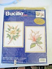 "1999 Bucilla Crewel MAGNOLIA'S 2 PEICE KIT 42562  ea 8"" X 10""  One is Completed"