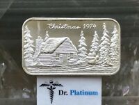 Christmas, 1 oz 999 Silver Bar - BL94