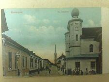 "Nové Zámky Judaica Rare Old Postcard Jewish Synagogue 1910"" Slovakia Israel"