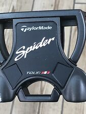 """Taylormade Tour Spider Putter 34"""" Black Grip & Silver/black Shaft Red Headcover"""
