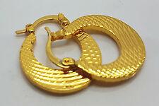 LUSSO Spesse Moda oro riempito A CERCHIO CON CARDINE abbraccino Dangle Earrings donna