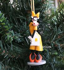 Custom Disney Clarabelle Cow Apron Minnie friend Christmas Ornament PVC Figure