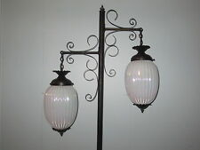 VINTAGE GOTHIC RETRO HOLLYWOOD REGENCY MIDCENTURY ATOMIC ERA GLASS FLOOR LAMP