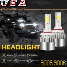 9005 9006 White Super Bright 6000K LED High Low Beam Headlight Fog Light Bulbs