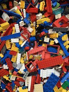LEGO 500g Bundle Mixed Bricks Genuine Pieces + 1 Minifigure Bulk Job Lot 1/2kg