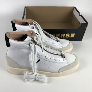 Converse x IBN Jasper Pro Leather Mid Top Sneakers Mens Size 11 White 165744c
