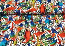 Baumwolljersey Stoff Digitaldruck bedruckt Jersey Bekleidung Meterware Papagei