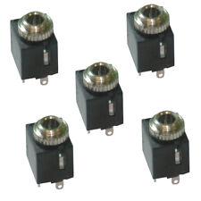 5 Pack x 3.5mm Jack Face Plate/ Wall Socket Terminal/ Insert - Solder Terminals