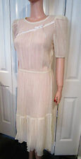 VINTAGE GAUZE DRESS BY JACKIE O!, DIVISION OF SURF & TURF OF CALIFORNIA, LOVELY!