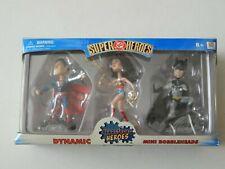 C4 9 DC Direct Lot Headstrong Super Heroes Bobbleheads 3-pack Superman Batman 13