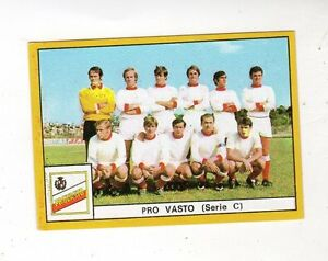 FIGURINA    CALCIATORI    EDIS    1969-70    SQUADRA   DELA    PRO  VASTO