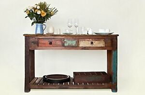 VINTAGE STYLE HANDMADE WOODEN CONSOLE TABLE - FURNITURE