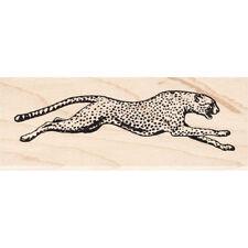 Running Cheetah Beeswax Rubber Stamp Mounted Animals Wildlife Scenic Stamping