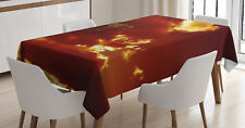 Religious Tablecloth Empty Cross Messiah Rectangular Table Cover 60 X 84 Inches