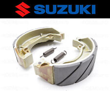 Set of (2) Suzuki Water Grooved FRONT Brake Shoes and Springs #54400-35860