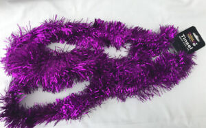 CHEAP Purple Christmas Tinsel Garland christmas Tree Decoration 2m tinsel 6ply