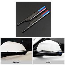 2x True Carbon Fiber Rear View Mirror Sticker Portector for BMW X3 X4 X5 X6 5 7
