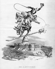 White House Clowns Riding Democratic Donkey Tariff Circus Income Tax McKinley