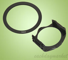 72mm 72 Adapter Ring + Filter Holder Mount for Cokin P Series