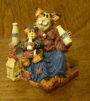 Boyds Purrstone #371007 MOMMA CRAFTYCAT w/ LIL' SIPPER...GOT CREAM,  New/Box CAT