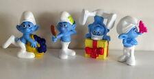 Set 4 Collectible Peyo Smurf figure figurines Greedy Jokey Vanity Grouchy No 3