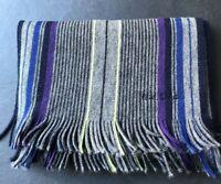 Paul Smith Reversible Multi Stripe Scarf  100% Wool