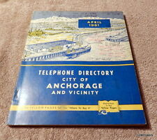 1961 Anchorage Alaska Telephone Book Directory Phone Book with Yellow Pages