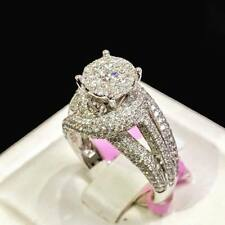 Wedding Ring 14K White Gold Over 2.65 Ct Round Diamond Engagement Bridal Women's