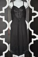 Gorgeous Vintage Vanity Fair Nylon tricot 34 Black Nightgown Gown P20