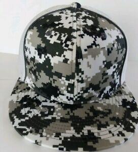 Pacific Headwear Blank Flex-Fit D Series 8D8 Mesh Trucker Hat/Cap/Camouflage