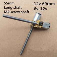 N20 DC 12v gear motor metal geared box long screw shaft slow speed Elektromotor