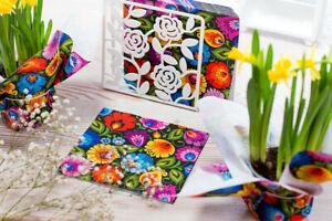 Paper napkins - folk pattern / Serwetki papierowe FOLK - lowickie czarne