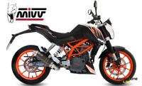FULL EXHAUST SYSTEM MIVV WITH MUFFLER GP STEEL BLACK FOR KTM 390 DUKE 13 > 16