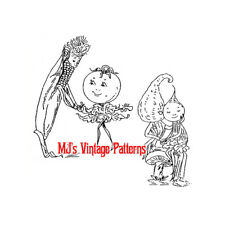 Anthromorphic Vegetable Couples Embroidery Pattern