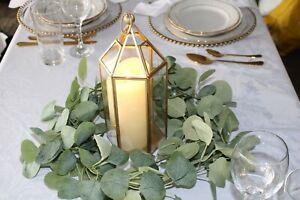 Vintage Wedding Geometric Lantern Terrarium Centerpiece, Rustic centerpiece HIRE