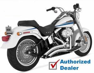 Vance & Hines Chrome Big Radius 2-into-2 Exhaust 1986-2017 Harley Softail Pipes