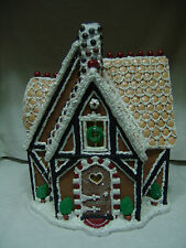 BYERS CHOICE LARGE CHRISTMAS GINGERBREAD HOUSE W/ORIGINAL BOX FREE SHIPPING