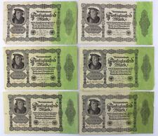 6x Ro. 79d / 79 Banknote 50000 Mark 1922 old Bill