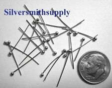 Ball head pins, white gold plated Jewelry dangle head pins 3/4 inch long fps023